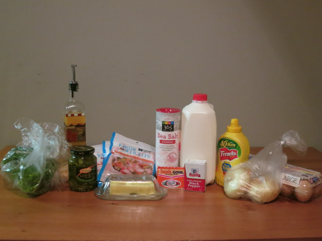 Lobster gratin - ingredients