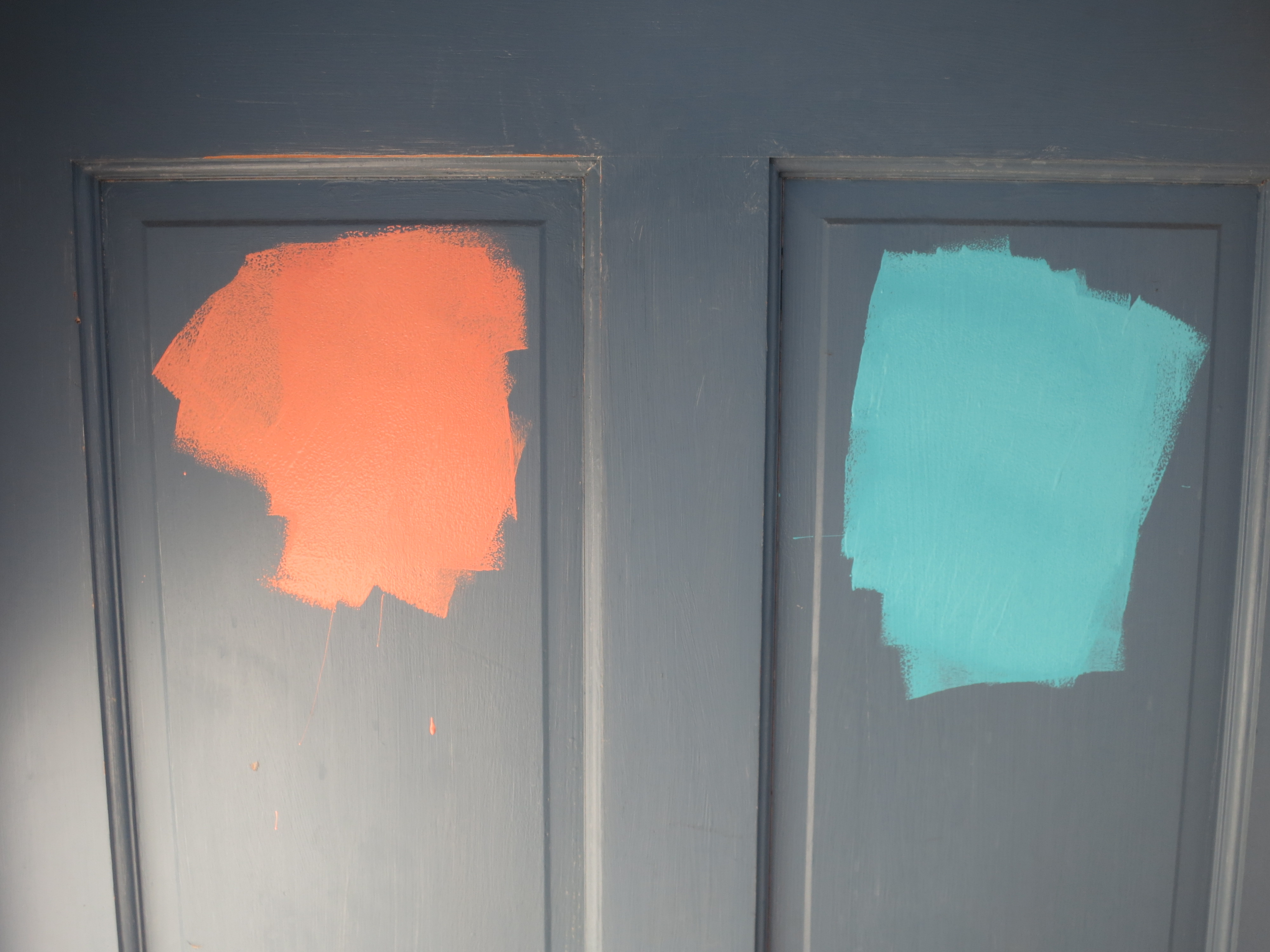 front - paint samples on door