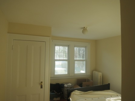 We stayed in this room for the first month of living in the house before the renovation.